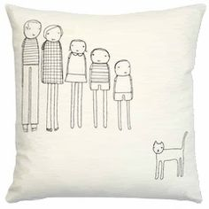 Customized family pillow