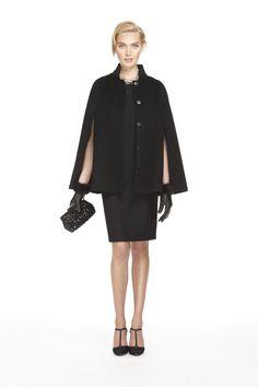 #BRAnnaK Black Monogram Woven Sequin Bodice Dress with Black Monogram Wool Cape – perfect for the holidays! #AnnaKarenina