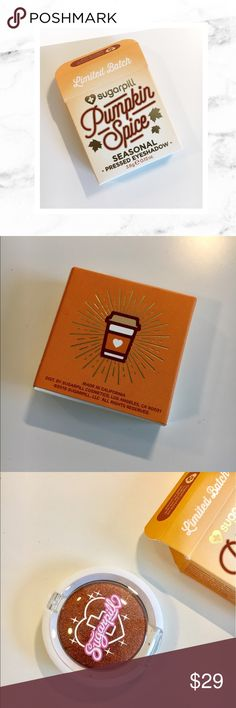 Sugarpill Cosmetics Pumpkin Spice Eyeshadow 🎃!!! Sugarpill Cosmetics limited edition Pumpkin Spice Eyeshadow! New in box! Never swatches, never used. Super rare and hard to find! Sugarpill Makeup Eyeshadow