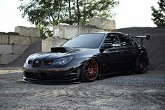 #Subaru #WRX #STi #Slammed #Bagged #Modified #Stance