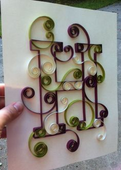 Quilled Monogram 8x10 H by Allthingsmadebykelly on Etsy, $20.00