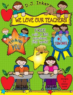 Clip art for your teachers & classrooms by DJ Inkers