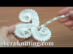 Crochet Element With Crystal Beads Tutorial 76 - YouTube