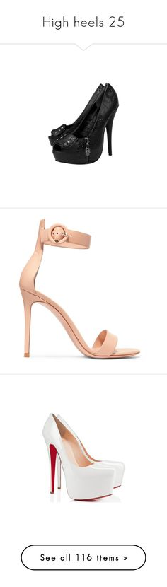 """High heels 25"" by musicmelody1 ❤ liked on Polyvore featuring shoes, pumps, heels, high heels, sapatos, high heeled footwear, heel pump, iron fist shoes, iron fist pumps and high heel pumps"