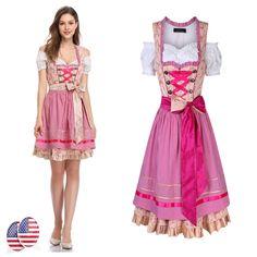05ed3b07b739e Fancy Girl Oktoberfest German Bavarian Beer Wench Maid Cosplay Costume Dress  12  (eBay Link)