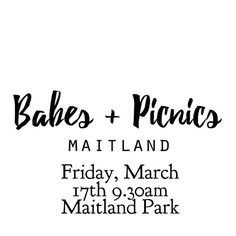 We're excited to team up with @theexhaustedmumma for the @babesandpicnics event in Maitland! Are you in Maitland?! Head along and meet with other mums and their babes. What a fun day out! And you might win one of our 3 month subscriptions!!