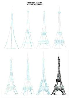 Eiffel tower drawing tutorial ♥
