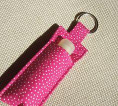 Chapstick Holder, Lip Balm key chain, chapstick case, ChapStick Keychain…