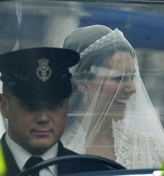 Kate Middleton headed with her father to Westminister Abbey for her royal wedding to Prince William, April 29, 2011.
