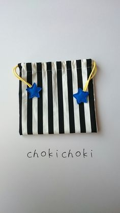 おほしさま巾着   ブルー×イエロー Painted Canvas Bags, Diy Fashion No Sew, Cute Sewing Projects, Diy Backpack, Diy Wallet, Japanese Sewing, Bag Organization, Design Crafts, Tricks