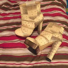 Shoes, booties, snakeskin Rachel Zoe Snakeskin Booties , never worn ! Size 7 Rachel Zoe Shoes Ankle Boots & Booties