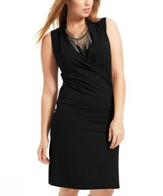 Take a look at this Black Mady Dress - Plus by Formidables by Scarlett on #zulily today!