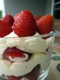 Strawberries Layered With Lemon Cream | The Spiced Life