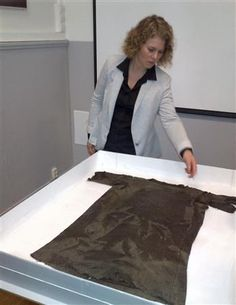 Viking Tunic Norway's Museum of Cultural History shows off a 1,700-year-old tunic used as warm outer clothing, found in the mountains of southern Norway in 2011, in Oslo March 21, 2013. ... more