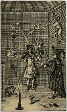 Anonymous British occult print dated 1720  2h