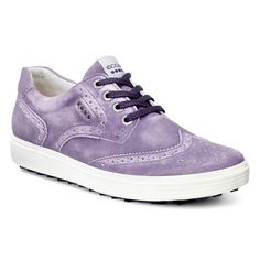 Ecco Ladies Casual Hybrid II Golf Shoe - Grape - Golf Shoes - Puetz Golf