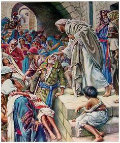 Lucas 7:20-22 ...vinieron a él, dijeron: Juan el Bautista nos ha enviado a ti, para preguntarte: ¿Eres tú el que había de venir, o esperaremos a otro? En esa misma hora sanó a muchos de enfermedades y plagas, y de espíritus malos, y a muchos ciegos les dio la vista. Y respondiendo Jesús, les dijo: Id, haced saber a Juan lo que habéis visto y oído: los ciegos ven, los cojos andan, los leprosos son limpiados, los sordos oyen, los muertos son resucitados, y a los pobres es anunciado el…