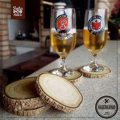 Os porta copos Madeira a Mão além de lindos, são de madeira 100% de reaproveitamento.