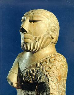 """The """"Priest King"""" statue of carved soapstone found in 1927 at Mohenjo-daro, the most famous center of the ancient Harappan civilization of Pakistan and India's Indus Valley. Along with its contemporaries in Egypt, Mesopotamia and Crete, this sophisticated society (c. 3300–1300 BC) was one of the world's earliest major urban civilizations. National Museum, Karachi, Pakistan."""