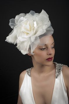 Vivien Sheriff Millinery ~ Vintage Inspired Wedding Veils and Bridal Headwear... oversized chiffon rose headband
