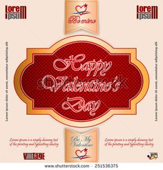 Vintage labels with Happy Valentine's Day text; Be My Valentine/Be Mine text and nice heart logo; Heart Logo, Vintage Labels, Happy Valentines Day, Lorem Ipsum, Royalty Free Images, Neon Signs, Stock Photos, Nice, Prints