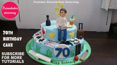 Birthday Gift Cake For Men Father Dad Husband Design Ideas Decorating Tutorial Classes Courses Video throughout Happy Birthday Cake Designs - Cake Design Ideas Elegant Birthday Cakes, Birthday Cakes For Men, Happy Birthday Papa Cake, Easy Birthday Cake Recipes, Birthday Cake For Boyfriend, Funny Birthday Cakes, Pretty Birthday Cakes, 70th Birthday Cake, Father Birthday