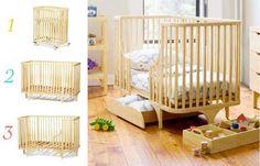 Convertible bassinet/crib/toddler bed