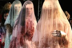 | Meadham Kirchhoff AW 2014 - London fashion week. Yes to the pastel creepiness..