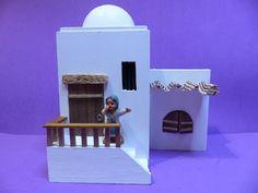 Mountain Village, Sunday School, Diorama, Ideas Para, Tiny House, Nativity, Bookends, House Plans, Xmas