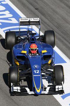 2015 pre-season test in #Barcelona. Day 4. Felipe Nasr. Sauber F1 Team. ► Learn more about us on www.sauberf1team.com - #F1 #SauberF1Team #ME9 #MarcusEricsson #FN12 #FelipeNasr #SauberC34 #FormulaOne #Formula1 #motorsport #photography