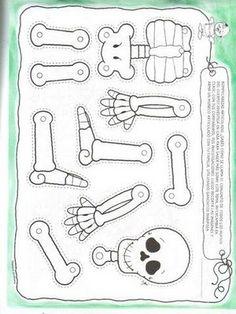 leuk om als zelfstandige activiteit te geven. de kleuters moeten een skelet maken aan de hand van deze stukken en met splitpennen. Puzzel: Het lichaam - skelet - botten