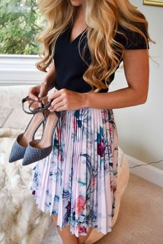 Sophisticated, Pleated Dress For Both Morning And Evening