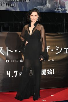 "Juliette Binoche at the World Premiere of the Paramount Pictures release ""Ghost In The Shell' at TOHO Cinemas Shinjuku on March 16, 2017 in Tokyo, Japan."