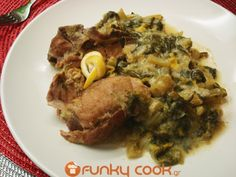 Pork with Celery in Avgolemono Sauce! A Delicious Traditional Dish!