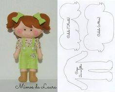 50 bonecas de feltro com molde fácil O feltro é ideal para produzir objetos pessoais e enfeites para decoração por ser um material male...