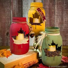 Ball jar candles - such a neat look! knsales.com
