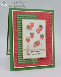 Stampin' Up! Fruit Basket for the Stamp Ink Paper Color Challenge