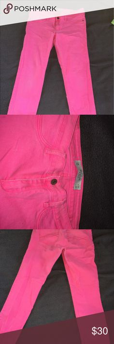 Pink Abercrombie & Fitch jeans These jeans are pink skinny jeans from Abercrombie and Fitch Abercrombie & Fitch Jeans Skinny