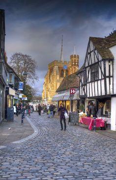 St Mary's & Hitchin Market Place, Hertfordshire, England