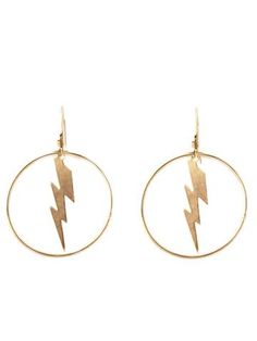 Enzo Earrings Lightning Bolt, Place Card Holders, Earrings, Stuff To Buy, Shopping, Jewelry, Life, Products, Ear Rings
