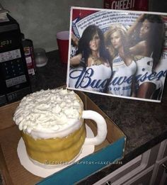 Extra Large Beer Mug Cake... Coolest Birthday Cake Ideas
