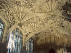 The beautiful Bodleian library in Oxford.