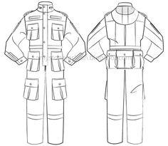 Flat Garment Drawing: Overall Templates 0099 Fashion Sketch Template, Fashion Design Template, Fashion Templates, Flat Drawings, Flat Sketches, Fashion Design Drawings, Fashion Sketches, Clothing Sketches, Fashion Vocabulary