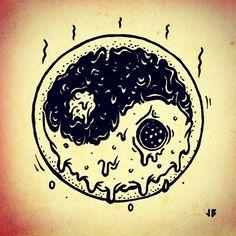 Yin Yang Peace-za  jamiebrowneart.com