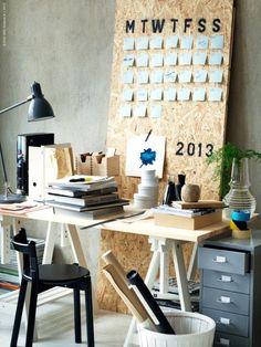 Desk + Calendar | Hanna Meijer | Livet Hemma