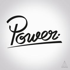 - Power - by Want Another God #Creation #Type #Idea #Mywork #font #power #typography #typographie