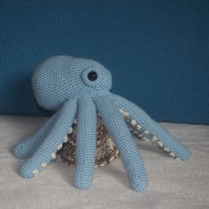 Crochet Octopus, Helping Hands, Dinosaur Stuffed Animal, Objects, Toys, Animals, Activity Toys, Animales, Animaux