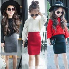 Buy Fashion Kid's Package Hip Skirt girl pencil Skirts Toddler girl tutu skirt kids clothes kids Autumn/Winter clothes short skirt Christmas Gift at Wish - Shopping Made Fun Baby Girl Fashion, Toddler Fashion, Child Fashion, Tutus For Girls, Girls Dresses, Baby Girls, Baby Boy, Short Outfits, Kids Outfits