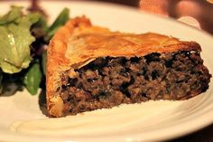 Celebrate Canada Day with a traditional French Canadian Tourtiere (a savory meat. - Celebrate Canada Day with a traditional French Canadian Tourtiere (a savory meat pie)! Meat Sauce Recipes, Healthy Meat Recipes, Beef Recipes, Cooking Recipes, Recipies, Healthy Food, Canadian Cuisine, Canadian Food, Canadian Recipes