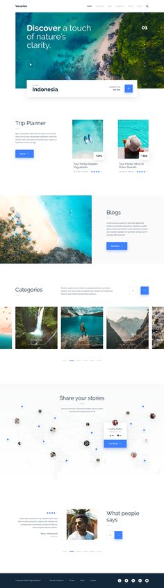 Vacarion - Trip Planner Landing Page Concept - Eine Plattform mit allen Designs Minimal Web Design, Design Web, Web Design Examples, Website Design, Flat Design, Webdesign Inspiration, Web Inspiration, Web Layout, Layout Design